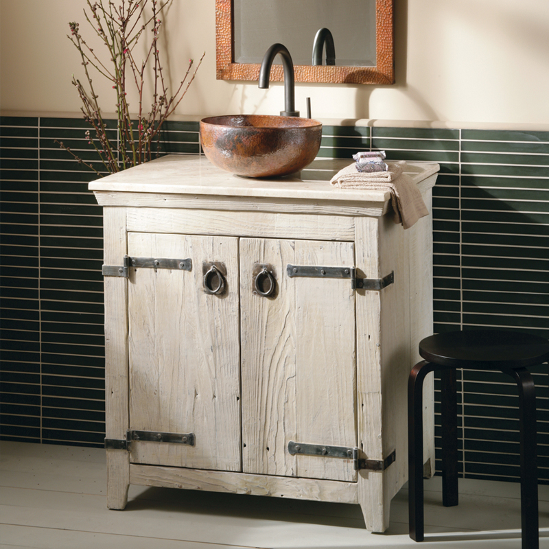Native Trails Americana Whitewash 30 in  Single Bathroom Vanity Set Hayneedle