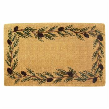 Nedia Home Evergreen Heavy Duty Coir Doormat with Optional Personalization