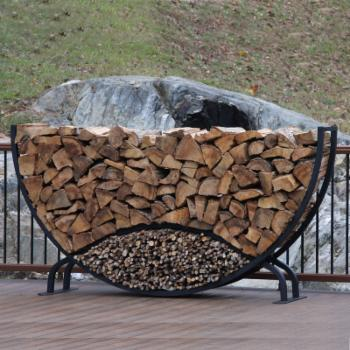 ShelterIt 8 ft. Round Firewood and Kindling Log Rack