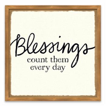 Gallery Direct Blessings Of Home III Recessed Box Wall Art