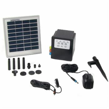 Sunnydaze Decor Solar Pump and Solar Panel Kit With Battery Pack