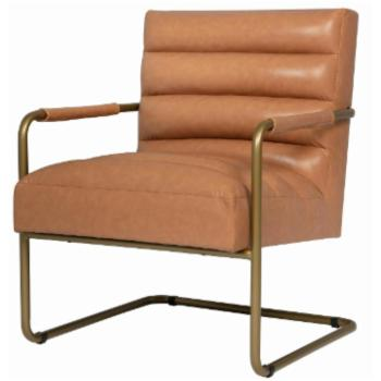New Pacific Direct Inc Peyton Leather Accent Chair