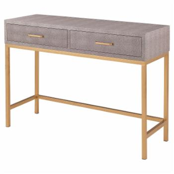 New Pacific Direct Inc Durham 2 Drawer Upholstered Console Table