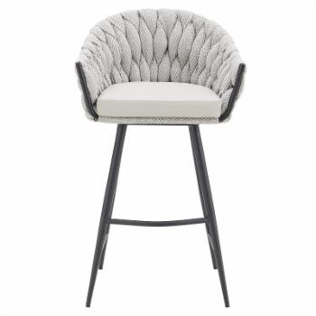 New Pacific Direct Inc Fabian 29.52 in. Upholstered Bar Stool