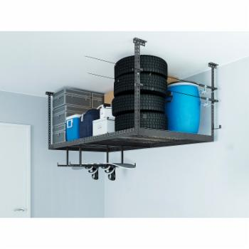 NewAge Products VersaRac 1 Overhead Rack and 8 Piece Hanging Bars and J-hooks Accessory Kit
