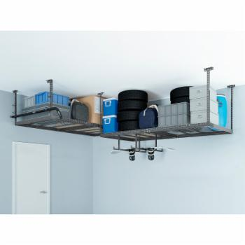 NewAge Products VersaRac 2 Overhead Rack and 8 Piece Hanging Bars and J-hooks Accessory Kit