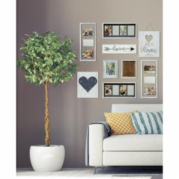 Pinnacle Frames Heart Decor White Collage Kit Picture Frame