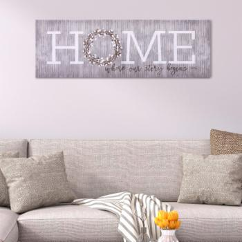 Nielsen Bainbridge Home is Where Our Story Begins Canvas Wall Art