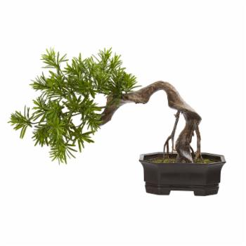 Nearly Natural 20 in. Bonsai Styled Podocarpus Artificial Plant