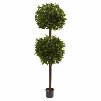 Nearly Natural Sweet Bay Double Ball Topiary