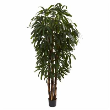 Nearly Natural 6 ft. Raphis Silk Palm Tree