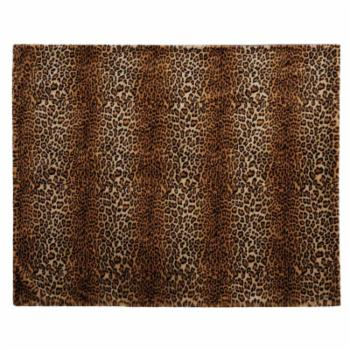 Mina Victory Leopard Faux Fur Decorative Throw Blanket