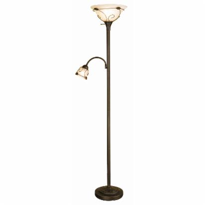 Scroll Detail Torchiere Floor Lamp