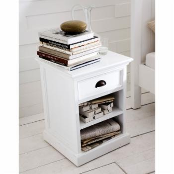 Nova Solo 1 Drawer Nightstand with Shelves