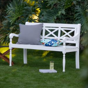 patio furniture. Belham Living Holland X-Back Outdoor Bench Patio Furniture
