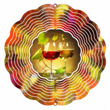 Next Innovations 10 in. Red and White Wine Wind Spinner