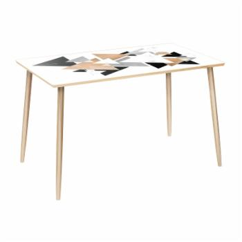NyeKoncept Brixton Marble & Gold Dowel 48 in. Dining Table