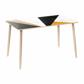 NyeKoncept Brixton Glamorous Geometry Dowel 48 in. Dining Table
