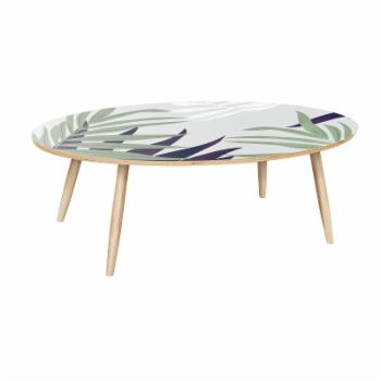 Nyekoncept Ondine Purple Palm Dowel Coffee Table