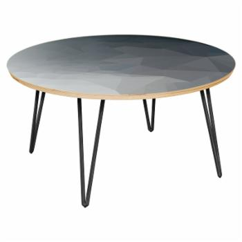 NyeKoncept Stella Midnight Topography Hairpin Coffee Table