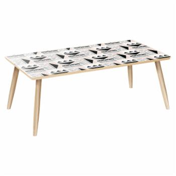 Nyekoncept Brixton Dowel Mudcloth Print Coffee Table