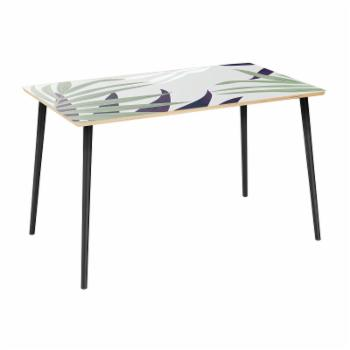 NyeKoncept Brixton Purple Palm Flare 48 in. Dining Table