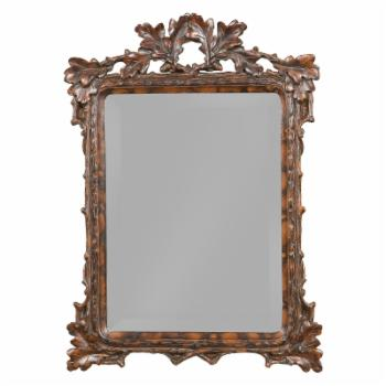 Oklahoma Casting Small Carved Rectangle Bevel Wall Mirror