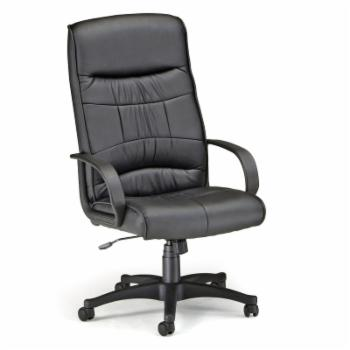 OFM Inc Leatherette High-Back Executive Chair - Black