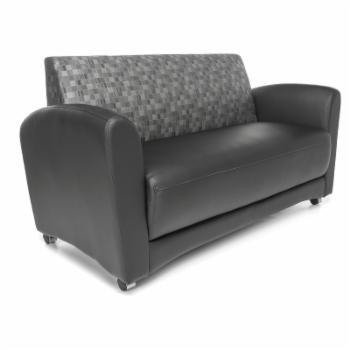 OFM InterPlay Series Model 822 Vinyl and Fabric Reception Sofa