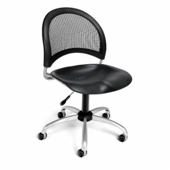 OFM Moon Series Model 336-P Armless Plastic Swivel Chair