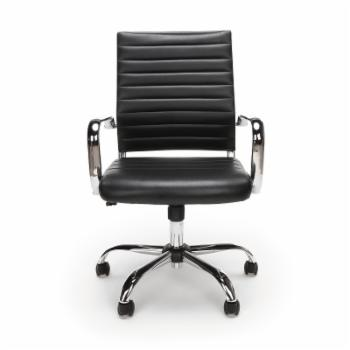 OFM Essentials by  Ribbed Leather Executive Chair