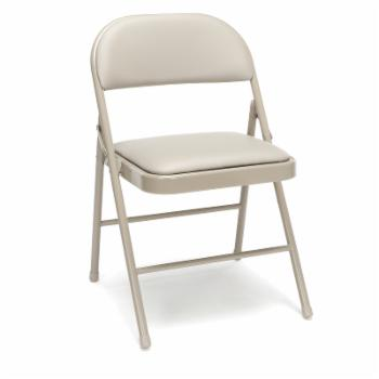 OFM Essentials by  4-Pack Padded Metal Folding Chairs - Set of 4
