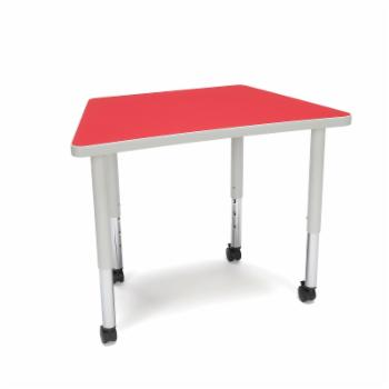 OFM Adapt Series Adjustable Height Trapezoid Student Table with Casters