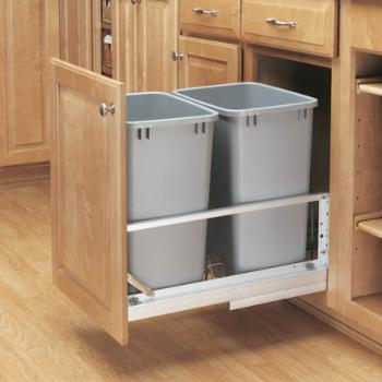 Rev-A-Shelf Double Soft Close Pull Out 35 qt. Trash Can