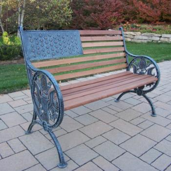 Oakland Living Proud American Bench - Antique Verdi