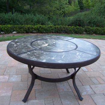Oakland Living Stone Art 44 in. Chat Table
