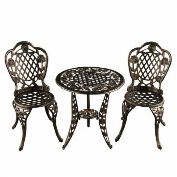 Oakland Living Rose Ornate Aluminum Bistro Set