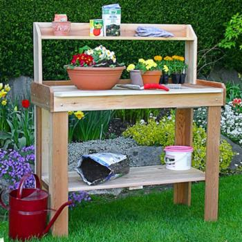 Outdoor Living Today 4 ft. x 2 ft. Western Red Cedar Potting Bench
