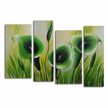 Green Memory Roots 4-Piece Canvas Wall Art - 56W x 36H in.