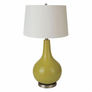 Ore International 6202GN 28-in. Ceramic Table Lamp - Apple Green