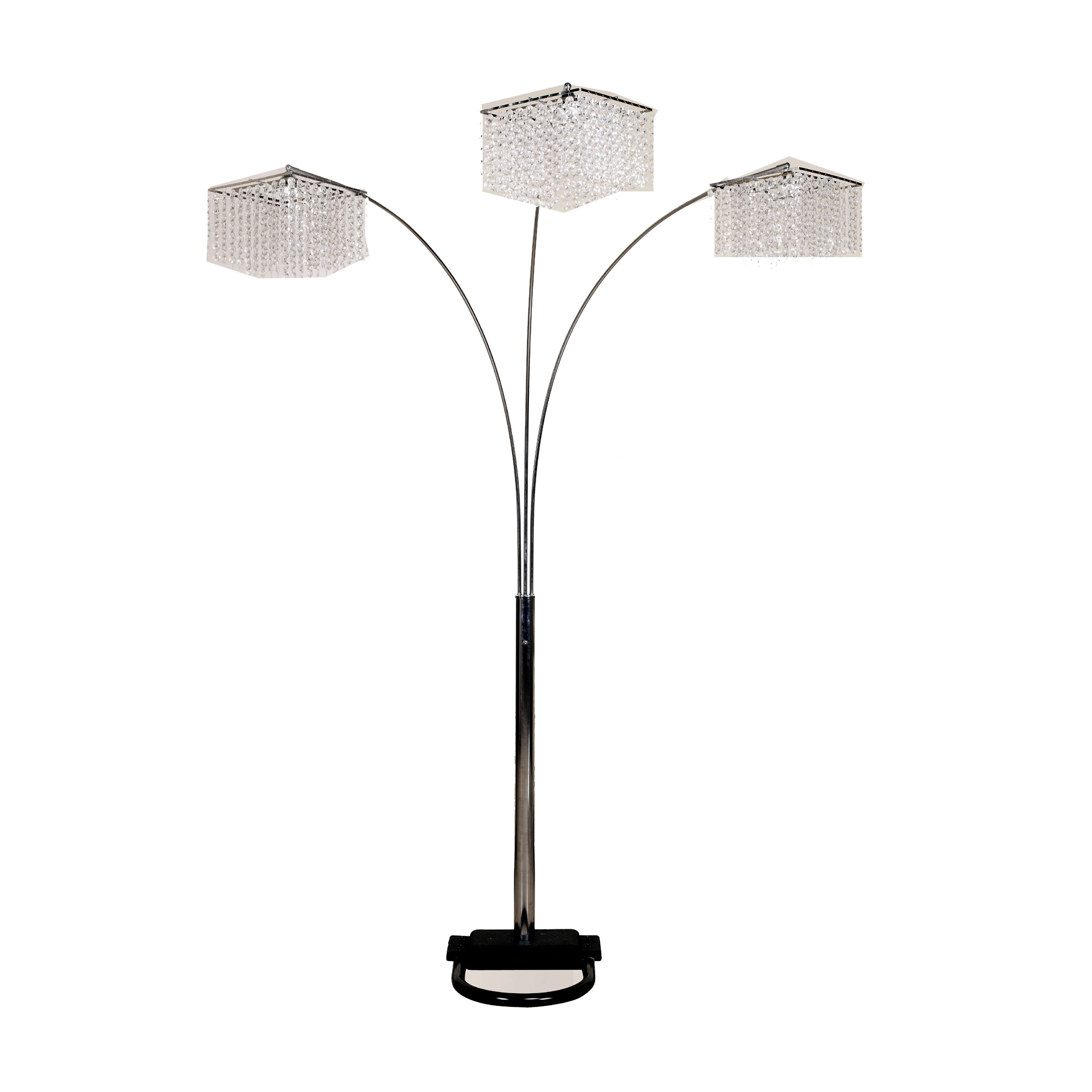 Ore International 6932 Inspirational 3 Light Crystal Arch Floor Lamp |  Hayneedle
