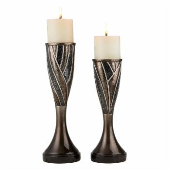 ORE International 14 in. Candleholder - Set of 2