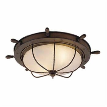 Vaxcel Orleans Nautical Outdoor Ceiling Light - 15W in. Antique Red Copper