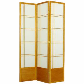 Oriental Furniture Double Cross Shoji Screen Room Divider - 84 inch