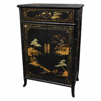 Oriental Furniture Japanese Crackle Decorative Chest