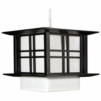 Oriental Furniture Akida Hanging Lamp - 10W in. Black