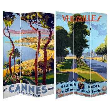 Oriental Furniture Double Sided Cannes/Versailles 3 Panel Room Divider