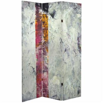 Red Lantern Double Sided 3 Panel November Light Canvas Room Divider