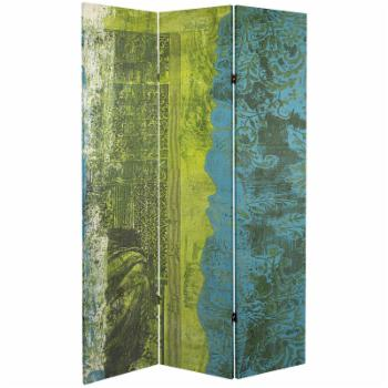 Red Lantern Double Sided 3 Panel Philosophers Gate Canvas Room Divider