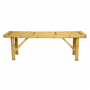 Oriental Furniture Japanese Bamboo Folding Indoor Backless Bench